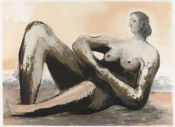 MOORE HENRY - P5251 - RECLINING WOMAN III