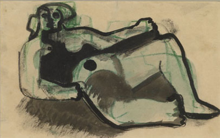 MOORE HENRY - P69-A - THREE STUDIES OF RECLINING NUDES
