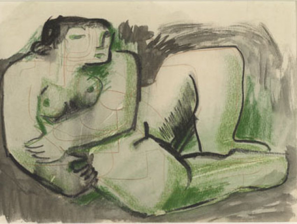 MOORE HENRY - P69-B - THREE STUDIES OF RECLINING NUDES