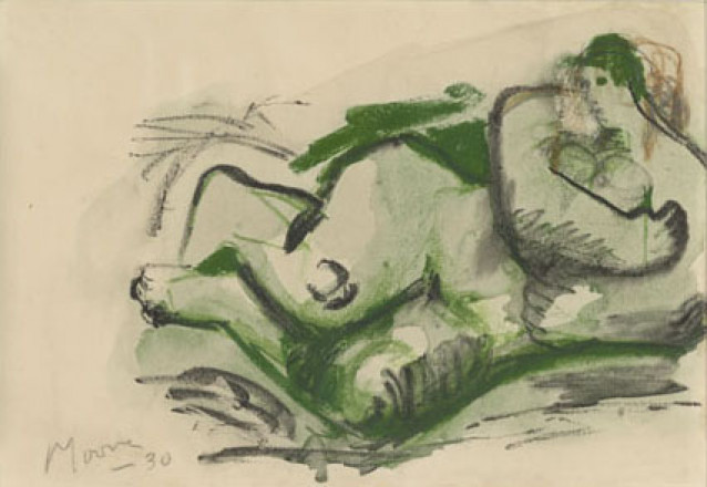 MOORE HENRY - P69-C - THREE STUDIES OF RECLINING NUDES