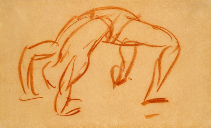 STUDY FOR THE STREET ACROBAT