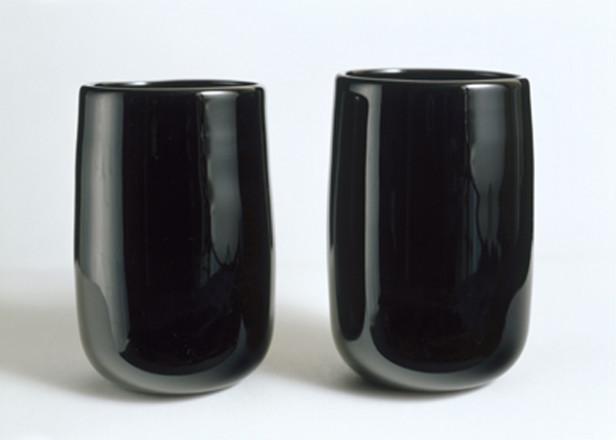 PAIR OF BLACK SIMPLE TUMBERS