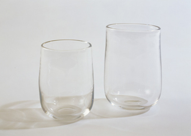 PAIR OF CLEAR SIMPLE TUMBLERS