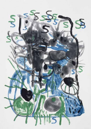 Untitled (S - green, black and blue)