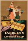 YARDLEY'S OLD ENGLISH LAVENDER SOAP - AFTER AN OLD PRINT