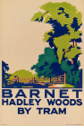 BARNET.  HADLEY WOODS BY TRAM