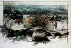 STUDY FOR 'PAINTING FOR A HOLE IN THE GROUND', CHOBHAM COMMON, SURREY
