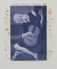 'THE OLD GUITARIST' FROM THE BLUE GUITAR (PORTFOLIO OF TWENTY PRINTS) 1976-77