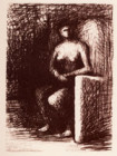 SEATED FIGURE III:  DARK ROOM