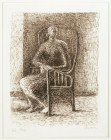 SEATED FIGURE V: WICKERWORK CHAIR