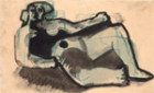THREE STUDIES OF RECLINING NUDES