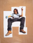 SELF PORTRAIT WITH MUG OF TEA 1993