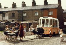 Ice cream van on a terraced street