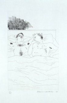 'IN THE DULL VILLAGE' FROM ILLUSTRATIONS FOR FOURTEEN POEMS FROM C.P. CAVAFY 1966-67
