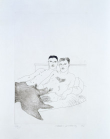 'THE BEGINNING' FROM ILLUSTRATIONS FOR FOURTEEN POEMS FROM C.P. CAVAFY 1966-67