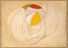 CURVED FORMS WITH RED AND YELLOW