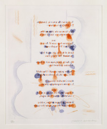 'MADE IN APRIL' FROM THE BLUE GUITAR (PORTFOLIO OF TWENTY PRINTS) 1976-77