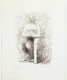 SEATED FIGURE I : LINE DRAWING