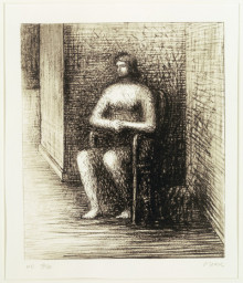 SEATED FIGURE VI:  ALCOVE CORNER