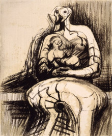 SEATED MOTHER AND CHILD