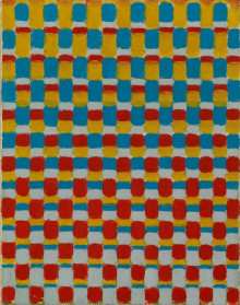 MOVEMENT WITH RED, BLUE, YELLOW AND GREY