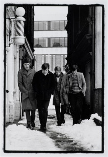 JOY DIVISION.  CATHEDRAL YARD, MANCHESTER.  6 JANUARY 1979