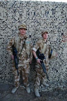 TEENAGE SOLDIERS - RIGHT - CRAFTSMAN MILLER, JUST 18 AT THE TIME (JANUARY 2008), A TECHNICAL STORE MAN WITH THE ROYAL ELECTRICAL AND MECHNICAL ENGINEERS PART OF THE 12TH LOGISTICAL SUPPORT BATTALION