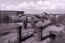 DISMANTED RAILWAY BRIDGE, ACCRINGTON, LANCASHIRE