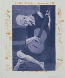 'THE OLD GUITARIST' FROM THE BLUE GUITAR (PORTFOLIO OF TWENTY PRINTS) 1976-77