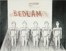 David Hockney 'Bedlam' from A Rake's Progress 1961-63