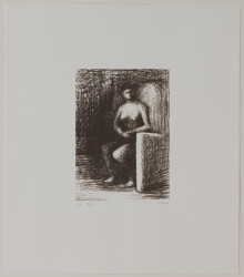Moore Henry - P5192 Seated Figure III Dark Room_Image©British Council (Photo by Simon Difazio)