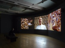 For you, only you (installation view), 2007 Three-channel video installation 14 mins 35 secs