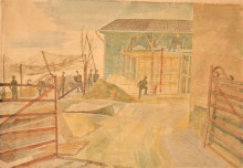 Bawden Edward-P143 Constructing A Blockhouse, Halluin