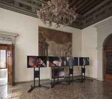 Installation view of Graham Fagen's exhibition for Scotland + Venice at the Palazzo Fontana