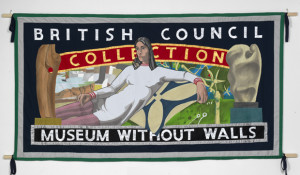 BRITISH COUNCIL COLLECTION BANNER, 2012, Ed Hall