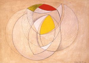 Barbara Hepworth, Curved Forms with Red and Yellow