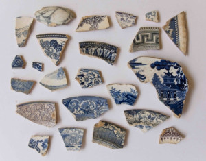 19th century ceramic shards from Joshua Lue Chee Kong's private collection
