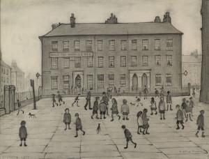 L. S. Lowry, City Scene, St. John's Parade, 1929
