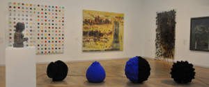 Works (left to right) by Henry Moore, Damien Hirst, Anish Kapoor, Peter Doig, Anya Gallaccio and Graham Sutherland