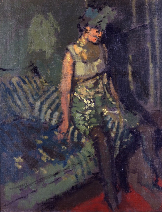A DANCER IN A GREEN DRESS - MARIE