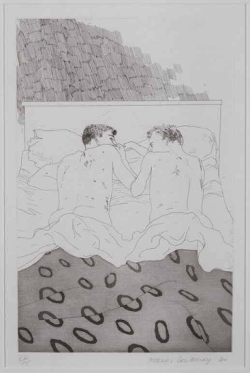 'TWO BOYS AGED 23 OR 24' FROM ILLUSTRATIONS FOR FOURTEEN POEMS FROM C.P. CAVAFY 1966-67