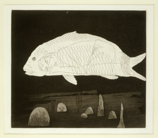 'THE BOY HIDDEN IN A FISH' FROM ILLUSTRATIONS FOR SIX FAIRY TALES FROM THE BROTHERS GRIMM 1969