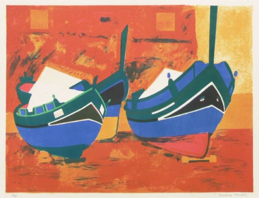 MALTA BOATS ON RED
