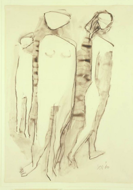 THREE STANDING FIGURES