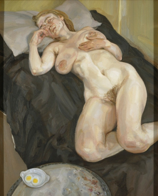 NAKED GIRL WITH EGG