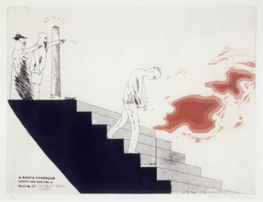 'THE WALLET BEGINS TO EMPTY' FROM A RAKE'S PROGRESS (PORTFOLIO OF SIXTEEN PRINTS) 1961-63