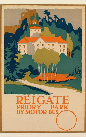 REIGATE -  PRIORY PARK BY MOTOR BUS