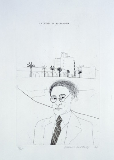 'PORTRAIT OF CAVAFY IN ALEXANDRIA' FROM ILLUSTRATIONS FOR FOURTEEN POEMS FROM C.P. CAVAFY 1966-67
