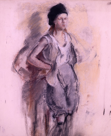 GIRL MODEL - STUDY FOR A PICTURE
