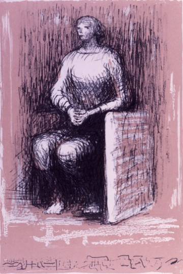 SEATED FIGURE II : PINK BACKGROUND